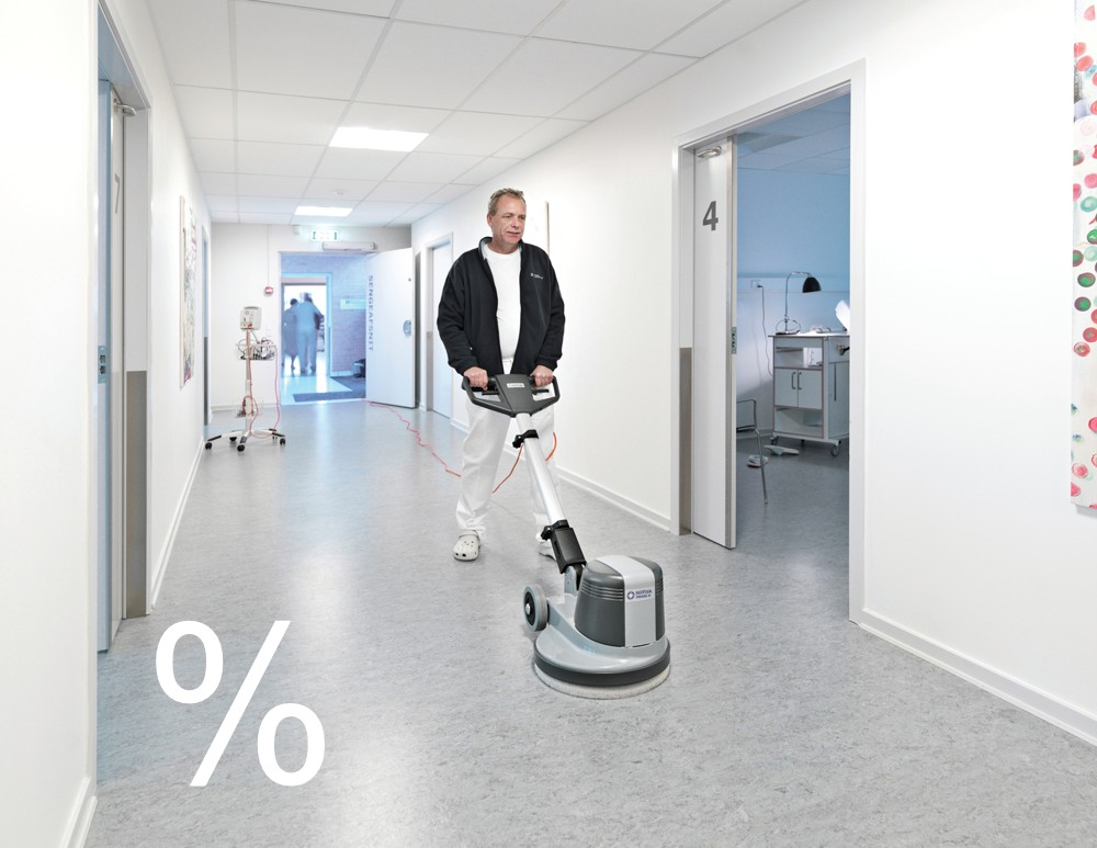 Jednokotoučové čistící stroje